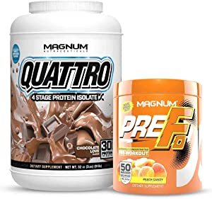 Magnum Nutraceuticals Workout Stack: Pre Fo Pre-Workout & Quattro Protein