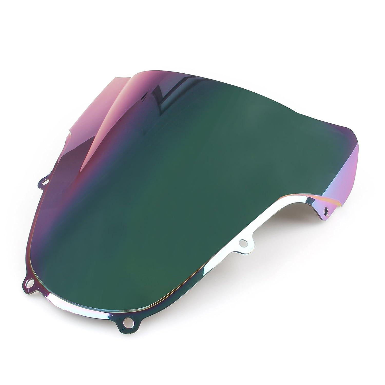 Artudatech Motorrad Windschutzscheiben Windschutz Windabweiser Windschild Doppelblase Luftstrom des Motorrad f/ür S-U-Z-U-K-I GSXR 600//750 2001-2003 K1