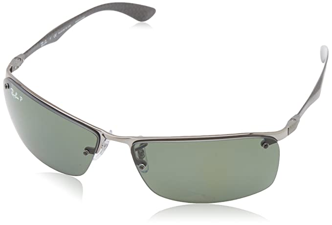 Ray-Ban Polarized Tech Series Carbon Fibre (63 mm) gafas de sol, Plomo, 63 para Hombre