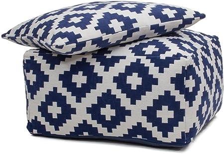 Tabouret Cube Coussin Geometrie Design Unwind Pouf Cushion Set 260 Bean Bag Losange Motif Coton 80 Cm X 80 Cm Blanc Acheter En Ligne Pas Cher Amazon Fr Cuisine Maison