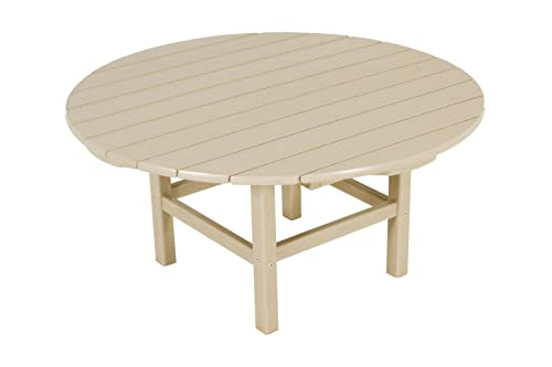 POLYWOOD RCT38SA Round 38 Conversation Table, Sand