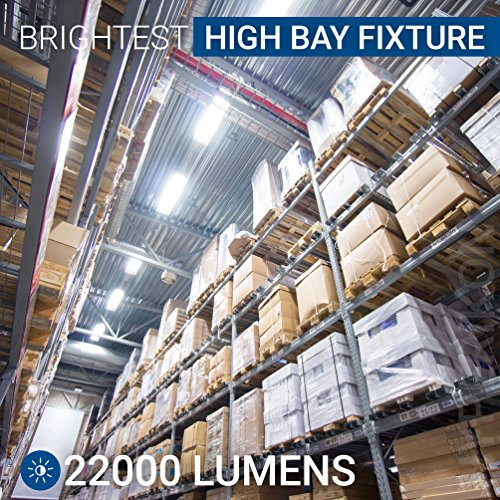 Hyperikon LED High Bay Light Fixture, Motion Sensor Included, 165W (500W Equivalent), 22000 Lumen, 5000K Indoor Area Warehouse Industrial Lighting, DLC and UL by Hyperikon (Image #4)