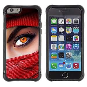 ZAKO Cases / Apple Iphone 6 PLUS 5.5 / Rede Eye / Robusto Prueba de choques Caso Billetera cubierta Shell Armor Funda Case Cover Slim Armor