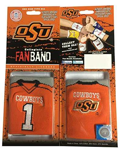 Oklahoma State Cowboys Replica Football Jersey (NCAA Fan Band Football Jersey Wristbands - 2 Pack (Oklahoma State Cowboys))