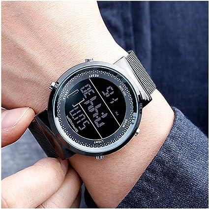 A-ZHP Relojes para Hombres Reloj Digital electrónico Reloj ...