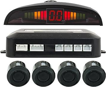KIT 4 SENSORI DI PARCHEGGIO CON DISPLAY LED LCD+SUONO CON CICALINO ACUSTICO