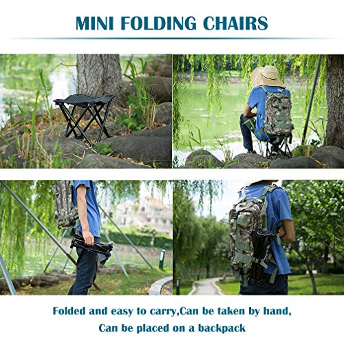 FairyMe Small Folding Chair Portable Camp Stool for Camping,Hiking,Fishing Travelling,Gardening,Beach Chairs by FairyMe (Image #5)