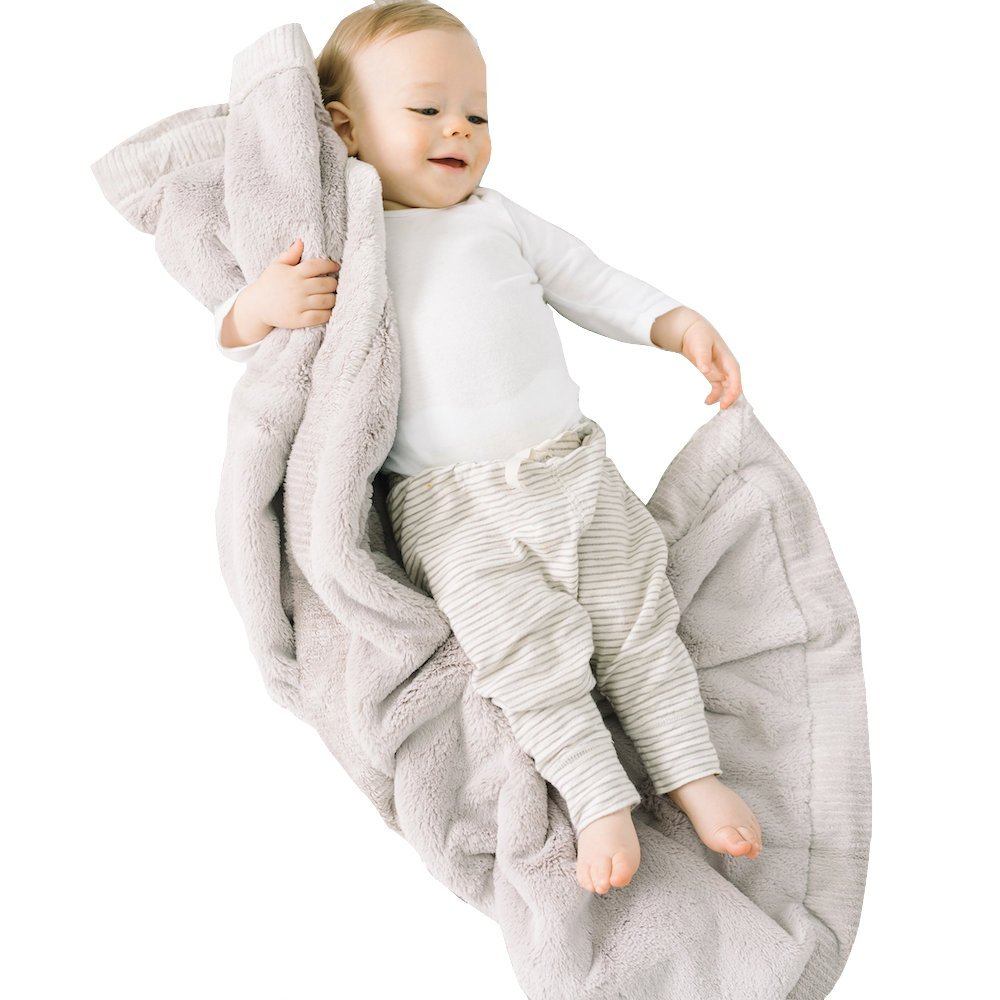 Saranoni Receiving Blankets for Babies Super Soft Boutique Quality Lush Luxury Baby Blanket (Feather, Receiving Blanket 30'' x 40'') by SARANONI