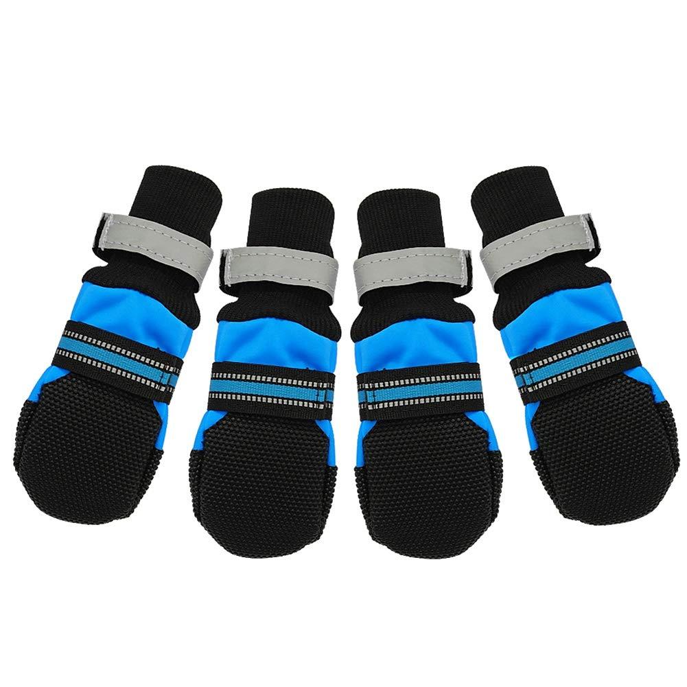 bluee XL B(M)US bluee XL B(M)US NOMIMAS Dog shoes Waterproof Winter Pet Dog shoes Anti-Slip Snow Warm Paw Predector Comfort Pet Supplies