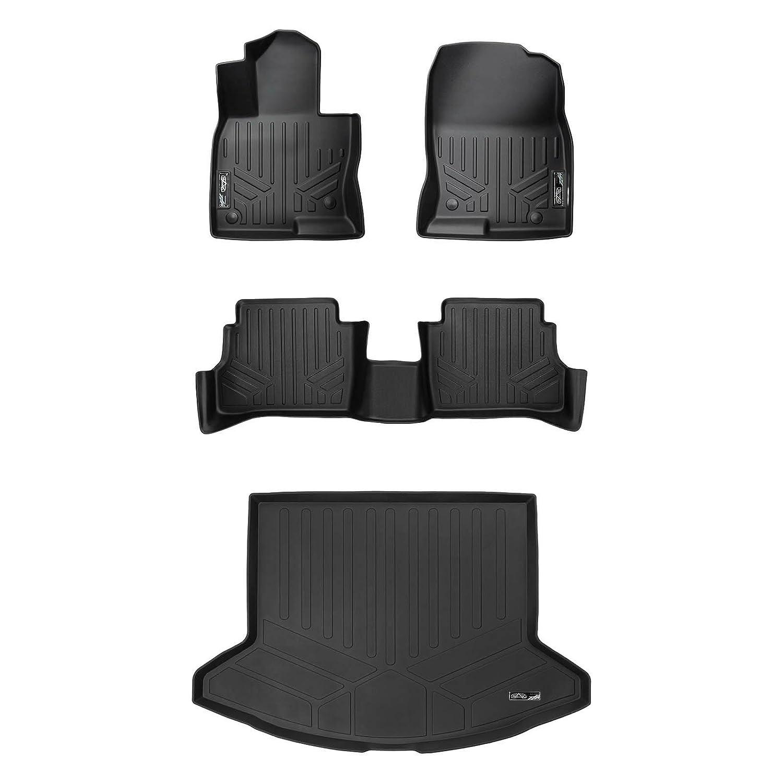 SMARTLINER Custom Fit Floor Mats 2 Rows and Cargo Liner Set Black for 2017-2019 Mazda CX-5