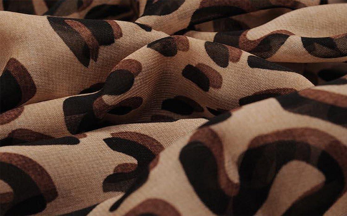 Emorias Schal Strand Schals Damen Damen Leopardenprint Muster Schal Schal Wrap Halstuch Schal Geschenk Bedrucktes