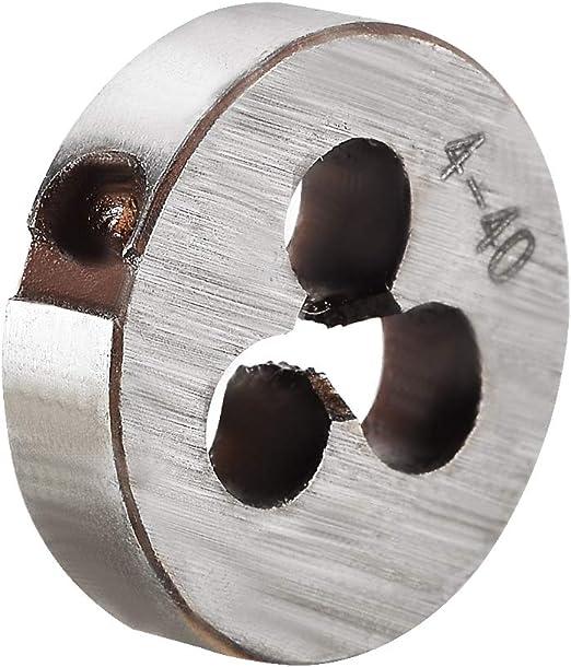2 Pcs. Left Hand Thread Round Die High Speed Steel 4-40 X 13//16 O.D.