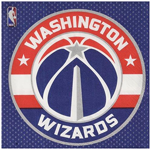 Washington Game Wizards - Amscan Washington Wizards NBA Collection Luncheon Napkins, 96 Ct.