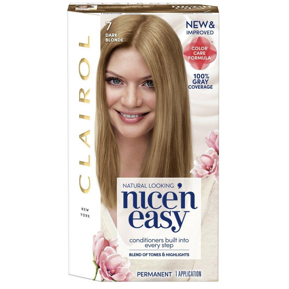 Clairol Nice 'n Easy, 7/106A Natural Dark Blonde, Permanent Hair Color, 1 Kit (Pack of 3)