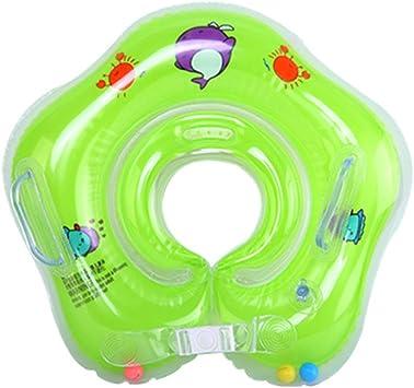 WinCret Salvagente Collo Neonato Gonfiabile Regolabile Doppio Airbag Salvagente Neonate per 1-18 Mesi Baby