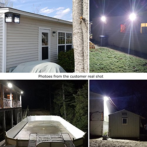 LEPOWER 2 Pack 20W LED Flood Light, Super Bright Outdoor Work Light, 100W Halogen Bulb Equivalent, IP66 Waterproof, 6500K,1600lm, Outdoor Led Lights(Daylight White 2-Pack) by LEPOWER (Image #6)