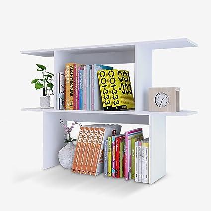 Estantería blanca de escritorio bien formada de estilo ...