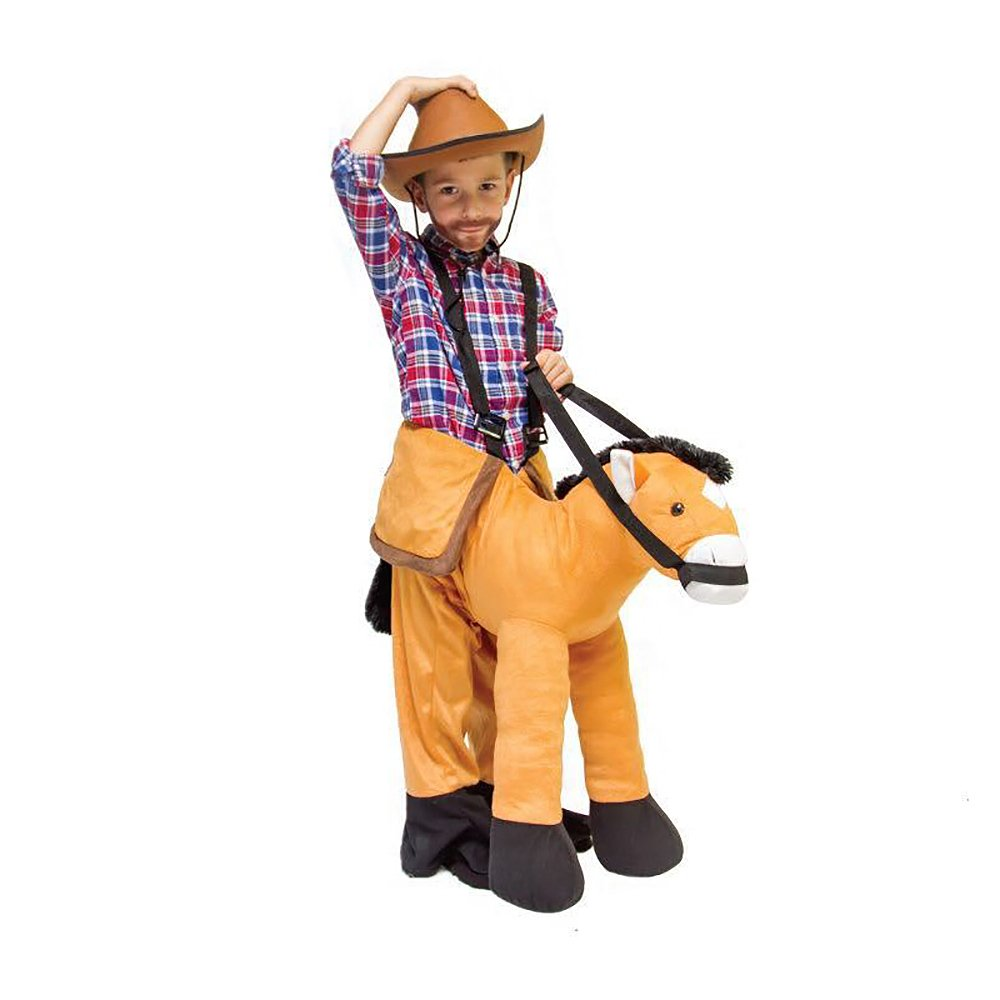Kids Halloween Costume Ride On Animal Unicon Horse Fancy Dress Outfit - Horse
