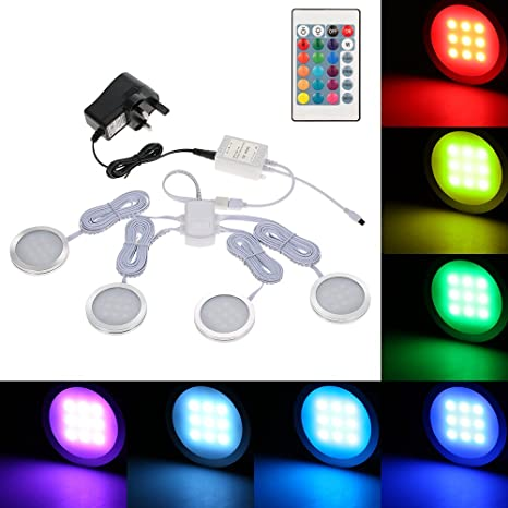 Kit de luces LED Docooler para colocar bajo repisa o estante