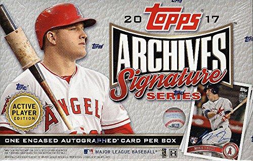 Mlb Signature Collectibles (2017 Topps Archives Signature Series MLB Baseball box (1 card))