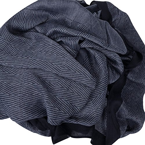 GERINLY Men Scarves Twill Cotton-Linen Long Winter Scarf (NavyBlue) by GERINLY (Image #4)