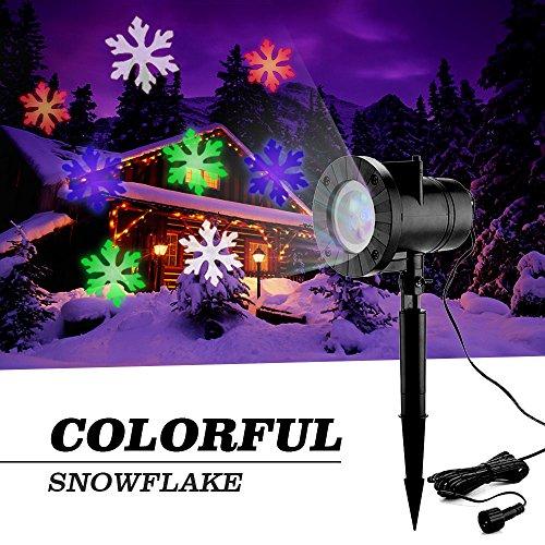 blue led snowflake lights - 9