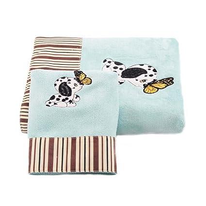 Patrón de perro bebé toallas de baño absorbente fuerte conjuntos (multicolor)