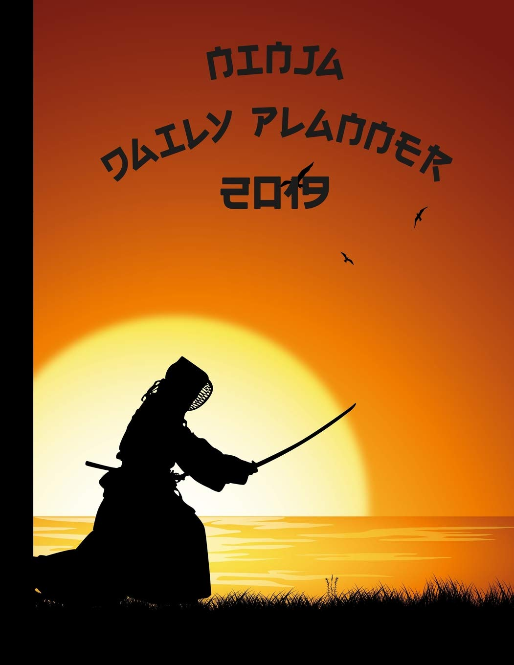 Ninja Daily Planner: 2019 - 2020 | Sunset Background Cover ...