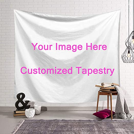 SOIM Custom Tapestry Wall Hanging Tapestry Christmas Wedding Decoration Tapestry-Family Bedroom Decor Blanket Print Your Pictures 90×60 in
