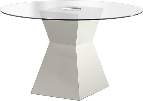 Milan Venus Clear Glass Modern Dining Table