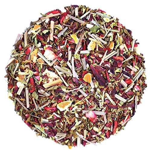 The Indian Chai - Zesty Hibiscus Tea, Refreshing Herbal Tisane, With Rosehip and Orange Peel, 3.53oz -