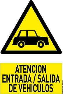 Señal Atencion Salida De Vehiculos PVC 21x30 Amarillo ...