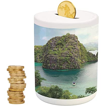 IPrint Ocean Island DecorCeramic Girl Bankfor Party Decor Girls Kids Children Adults