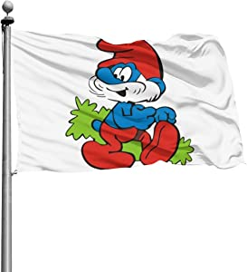 NOT The Smurfs Outdoor Garden Decoration Flag。