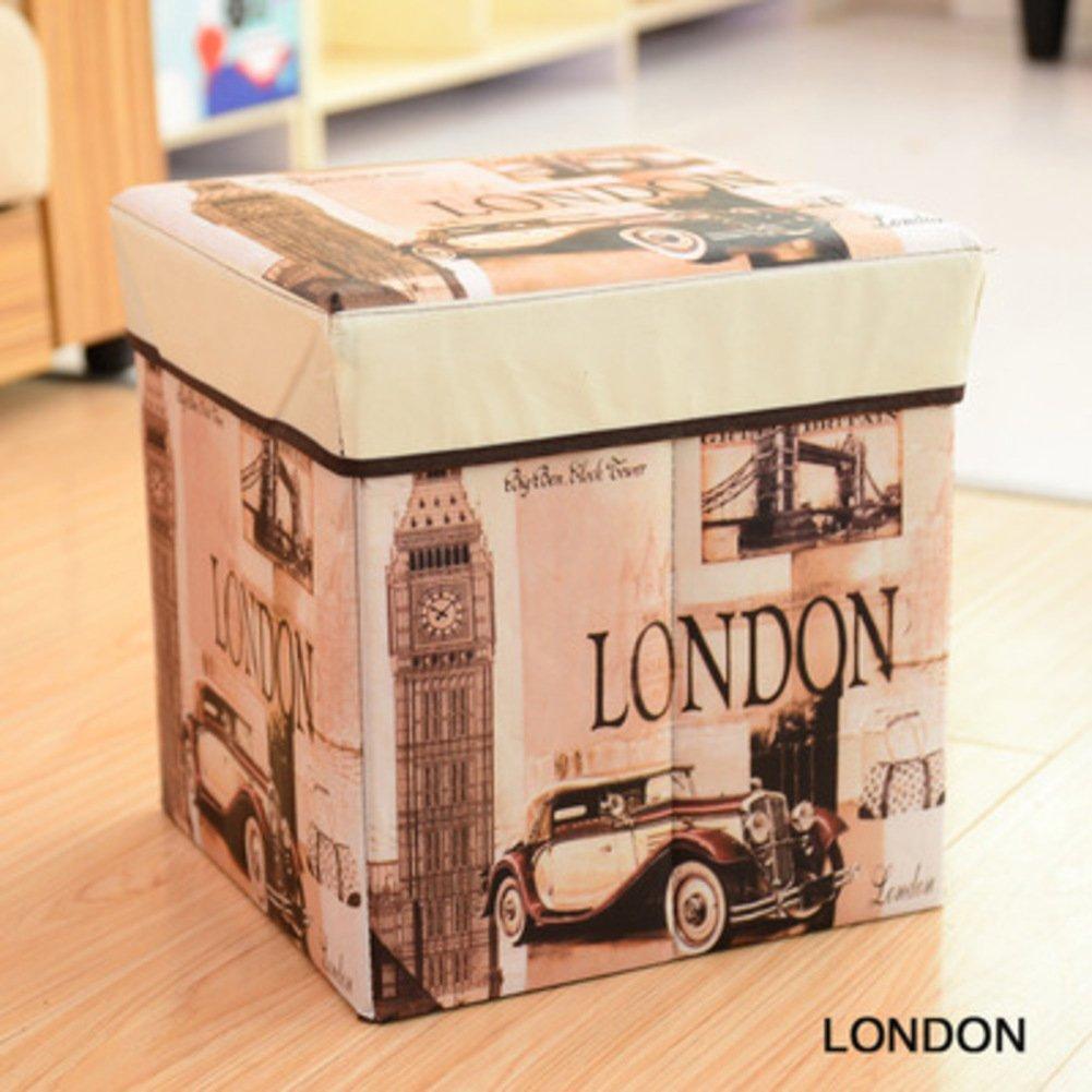 Fine Zzaini Vintage London Foldable Ottoman Cube Foot Stool Forskolin Free Trial Chair Design Images Forskolin Free Trialorg