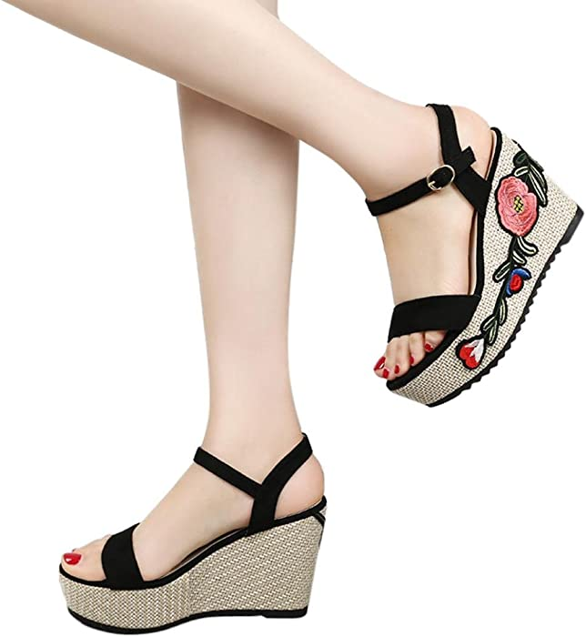 02a4995ff Amazon.com  DENER Women Girls Ladies Wedge Sandals