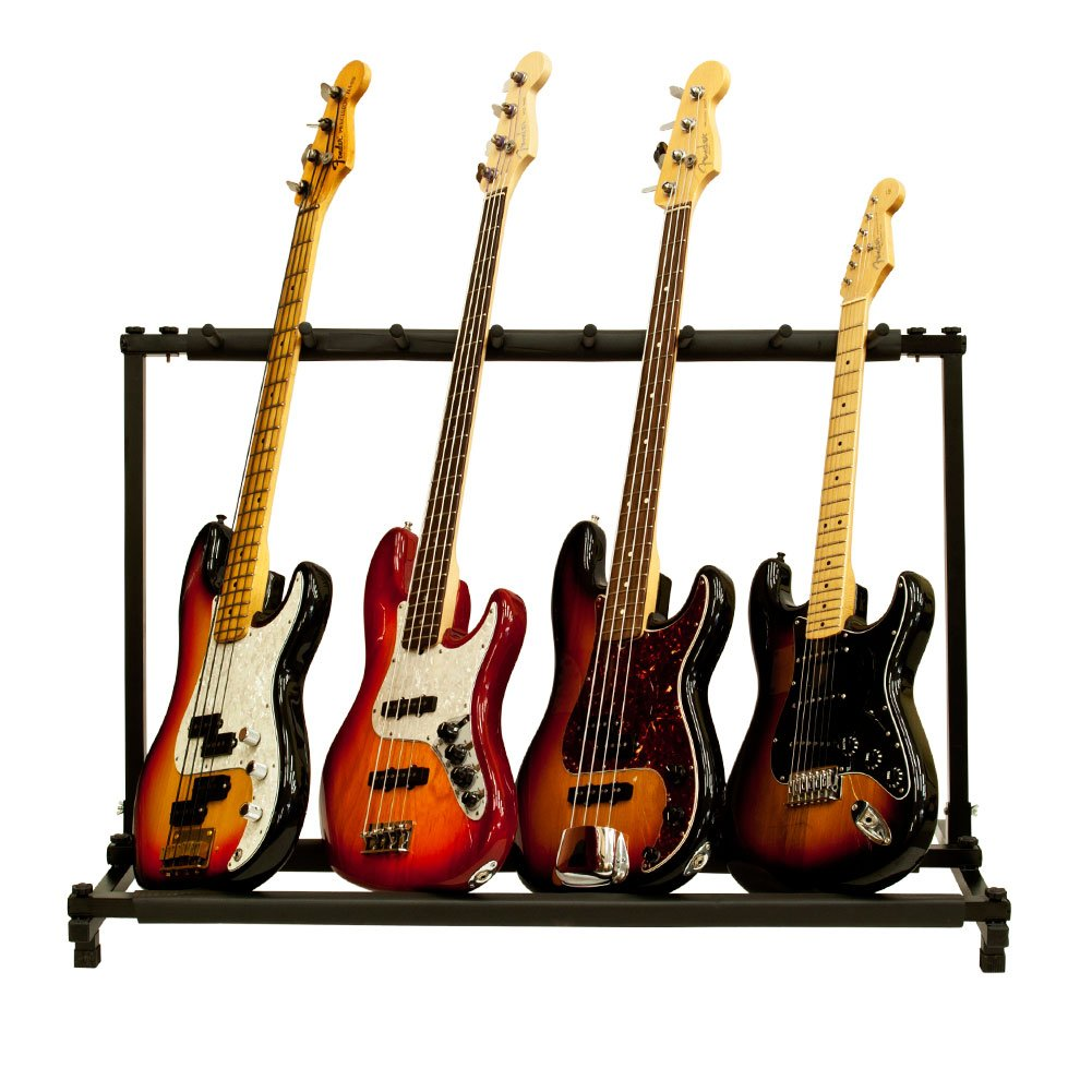Amazon.com: Solid Tech 7 Folding Guitar Rack Storage Organizer Stand Holder  Electric Acoustic Bass Slot: Musical Instruments