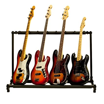 Solid Tech 7 de organizador de almacenamiento Soporte Plegable para Guitarra Acústica Eléctrica Bass ranura