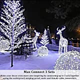 Ollny Outdoor Christmas String Lights 66ft 200 LED