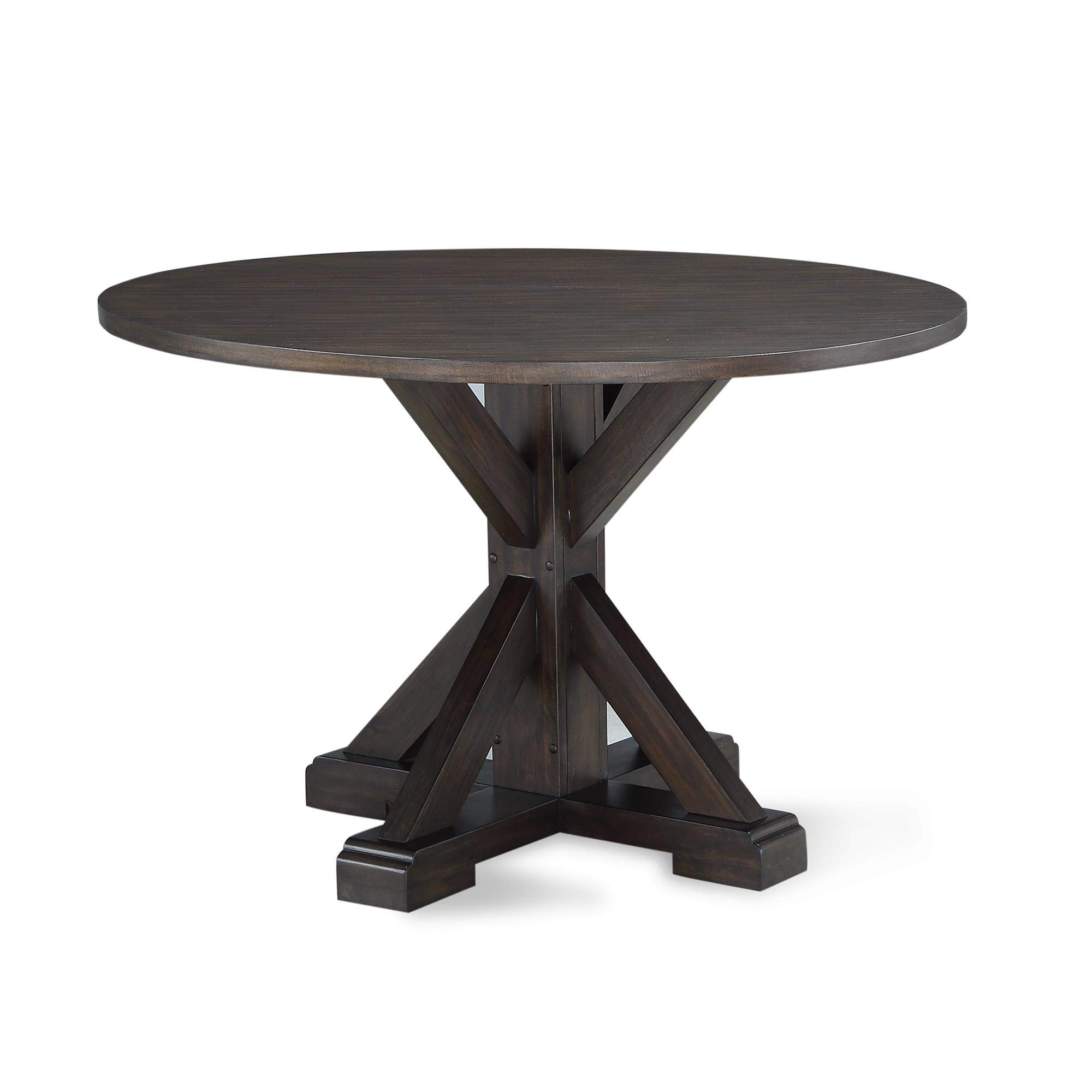 Dorel Living DA8135T Lanley Round, Rustic Brown Dining Table, by Dorel Living (Image #1)