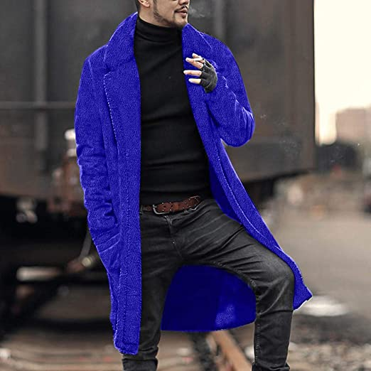 YKARITIANNA Mens 2018 New Coat Mens Autumn Winter Casual Baggy Long Sleeve Hoodie with Pocket Solid Comfy Jacket Coat