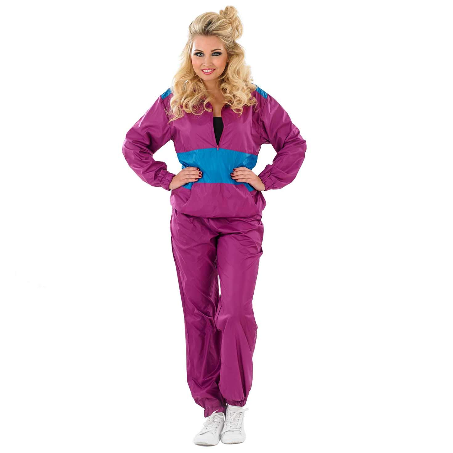 Fun Shack Púrpura Chándal Impermeable Disfraz para Mujeres - S ...