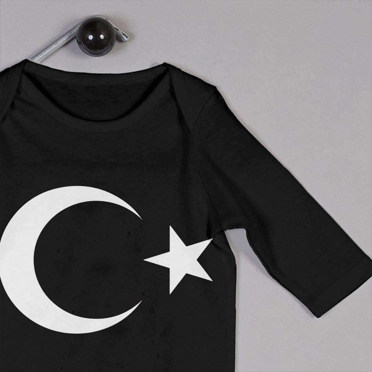 Turkey Flag Symbol Organic One-Piece Bodysuits Coverall Outfits BKNGDG8Q Unisex Baby Romper Jumpsuit