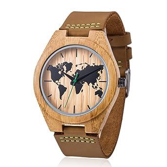 11f9d6d990c9 MODUN Men s Wooden Bamboo Watch