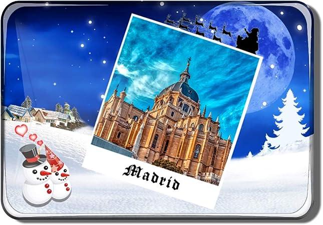 Hqiyaols Souvenir España Catedral de la Almudena Madrid Imán de Nevera Recuerdo Navidad San Valentin Regalo Cristal Refrigerador Imán Viajes Coleccionables: Amazon.es: Hogar