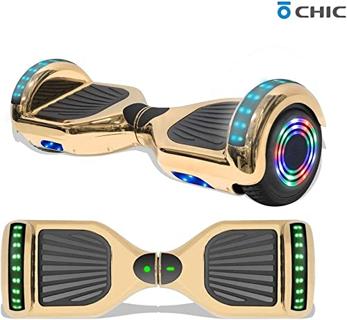 TPS 6.5 Hoverboard Electric Self Balancing Scooter with Wireless Speaker and LED Lights for Kids and Adults – UL2272 Safety Certified