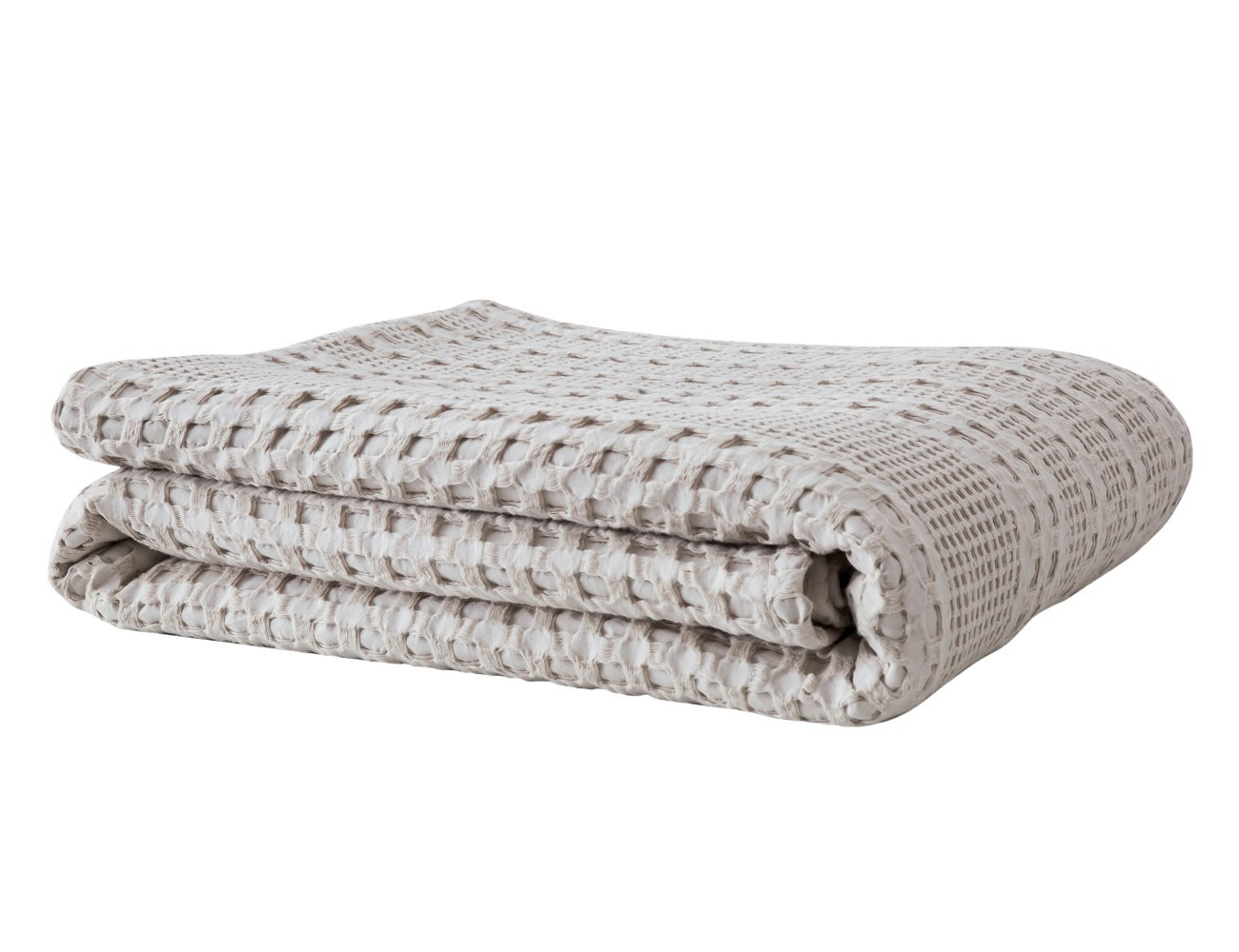 PHF Lightweight Waffle Weave Blanket for Summer 100% Cotton Twin Size Khaki