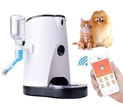 Dispensador Automático De Alimentos Con Alimentador Wifi Para Mascotas Con Cámara Para Perros Y Gatos,