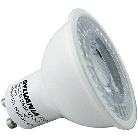 6Pack Sylvania 5 Watt Regulable GU10 0028444 Refled V4 345LM 5W Led Regulable GU10 Bombillas Reemplazo