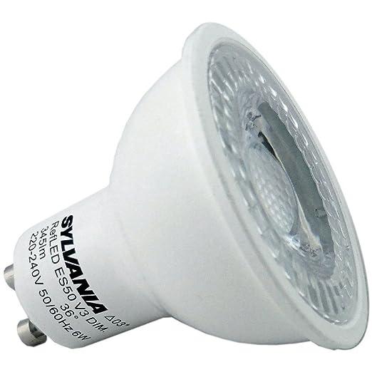 Sylvania - Paquete de 6 bombillas LED (GU10, 0028440, REFLED, V4,